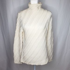Chunky Off White Cable Knit Sweater